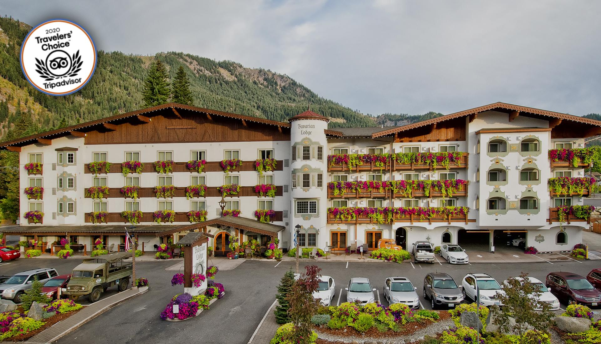 Bavarian Lodge Leavenworth Washington full building shot